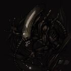 Alien on your iphone by Anarchpeace