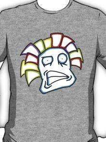 Retro Tiki Mask Smirk T-Shirt