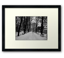 A Layer of Snow Framed Print
