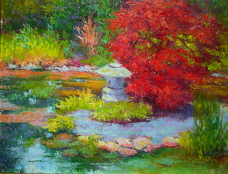 Japanese maple by Julia Lesnichy
