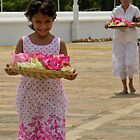 Girl at temple  by Dimuthu  Sudasinghe