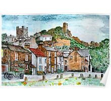 A digital painting of Richmond, Yorkshire, England Poster