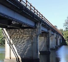 The Old Coomera River Bridge by Kathie Nichols