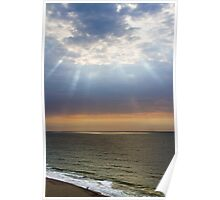 Beach with Glorious Light Poster