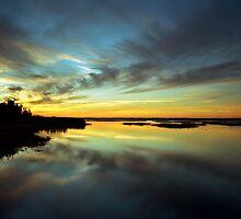 Sunset #1. Lake Gentry by chris kusik