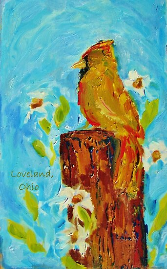 Loveland, Ohio Cardinal by KAT Griffin