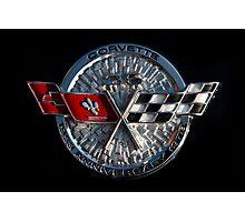 25th Anniversary Corvette Emblem Photographic Print
