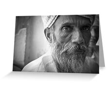 an indian portrait Greeting Card