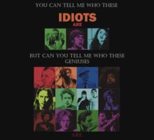 IDIOTS AND GENIUSES by Alex  Coombes