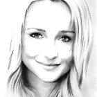 Hayden Panettiere pencil portrait by wu-wei