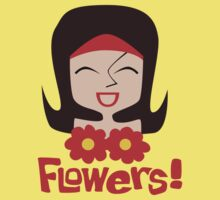 Flowers - funny cartoon illustration by DiabolickalPLAN