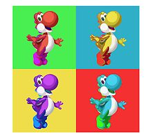 Yoshi ala Warhol by digitalnative00