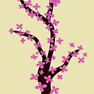Cherry Blossom on Pink by Colorsark