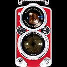 Red Rolleiflex Dual lens Vintage camera iphone 4 4s, iPhone 3Gs, iPod Touch 4g case by www. pointsalestore.com