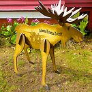 Alaskan Wooden Moose, Talkeetna, Alaska, 2012. by johnrf