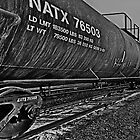 BNSF NATX 76503 B/W by Adam Northam