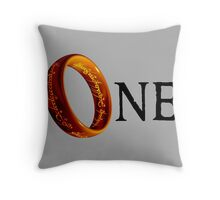 The One Ring Throw Pillow