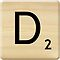 Scrabble Letter D by Scrabbler