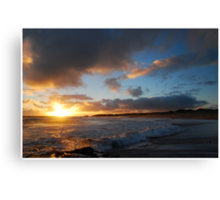 Beachport Sunset and Surf Canvas Print