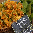 Zucchini flowers, Provence, France by annabella67
