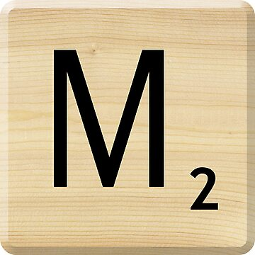 Scrabble Letter M	 by Scrabbler