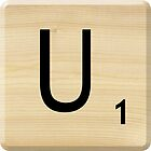 Scrabble Letter U by Scrabbler