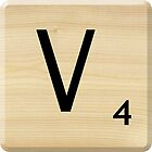 Scrabble Letter V by Scrabbler