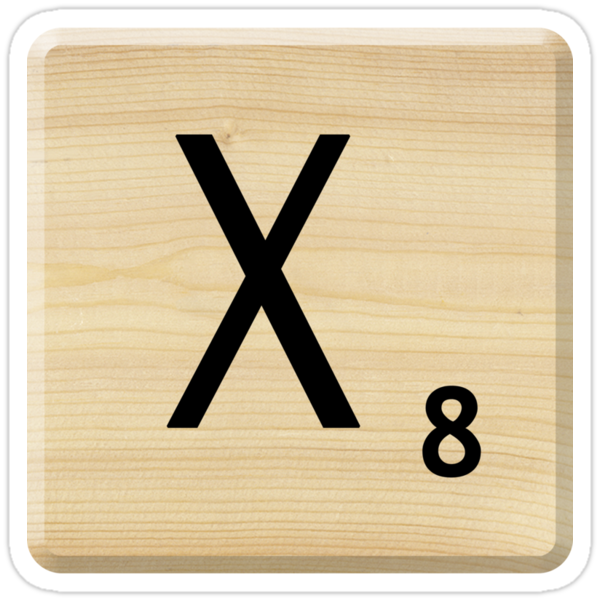 Scrabble Letter X	 by Scrabbler