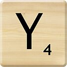 Scrabble Letter Y by Scrabbler
