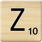 Scrabble Letter Z by Scrabbler