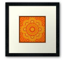 omulyana dancing mandala Framed Print