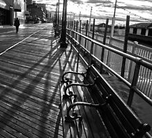 Boardwalk in Atlantic City by Debra Fedchin