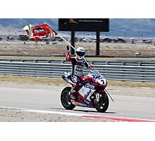 Carlos Checa at Miller Motorsports park 2012 Photographic Print