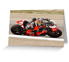 MAX BIAGGI at Miller Motorsports park 2012 Greeting Card