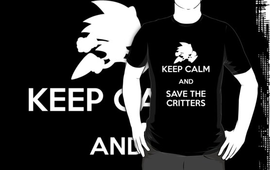 Keep Calm - Save the Critters (White) by Adam Angold