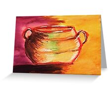 The Brass pot. watercolor Greeting Card