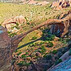 Landscape Arch From Above by EarthPhoenix