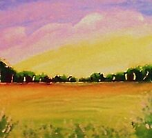 Peaceful meadow, watercolor by Anna  Lewis