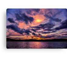 Sunset colors Canvas Print