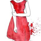 she wore her red dress by Loui  Jover