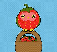 The strawberry Owl for i-phone by Luke Barclay