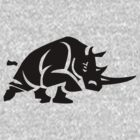 Rhino Stencil - Black by UncleCory