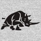 Rhino Stencil - Black by Ten Ton Tees