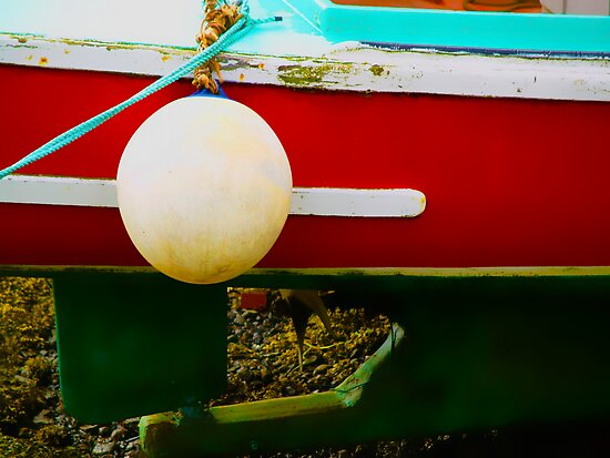 Buoy and Boat at Low Tide by phaedra1973