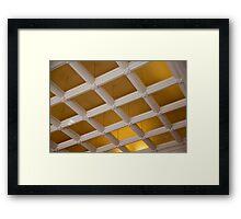 Ceiling Grid Framed Print