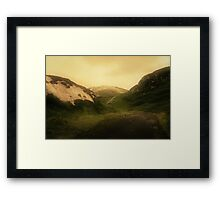 These mystic hills Framed Print