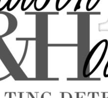 A Detective & A Doc Sticker