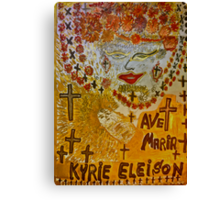 The Joyful Coptic Madonna and the Child . Hippie style. Be sure to wear flowers in your hair . God bless artists . Amen. Views: 640 *Featured Work in Painters Universe  Canvas Print