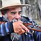 Tony The Muzzle Loader - Hill End NSW Australia by Phil Woodman