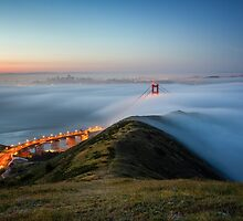 Moon Lit Fog - Golden Gate Bridge by Toby Harriman